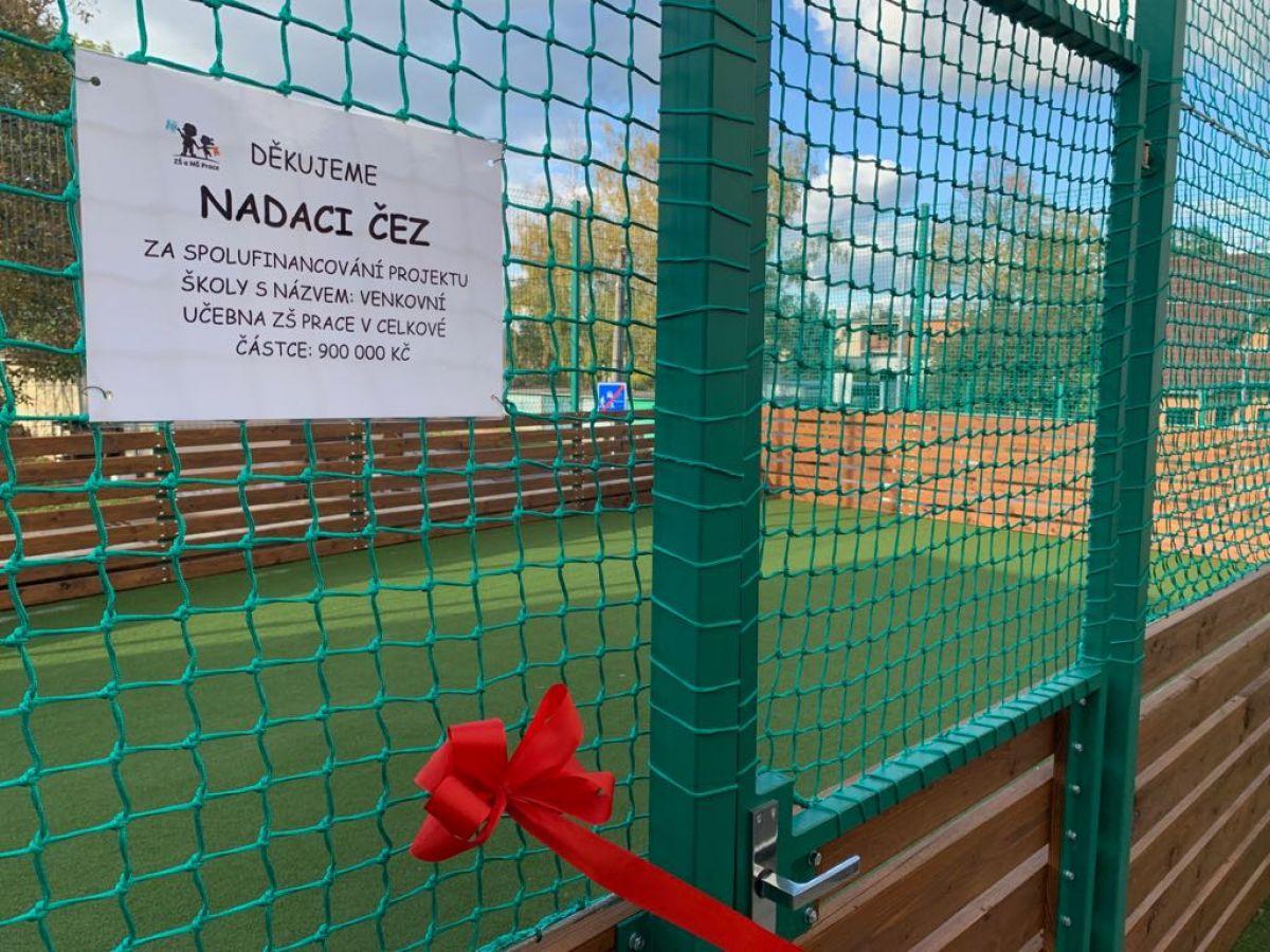 Slavnostní otevření venkovního sportoviště ZŠ Prace